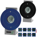 Custom Rotating 4-In-1 LCD Alarm Clock, 5 1/2