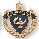 Blank Fully Modeled Epoxy Enameled Scholastic Award Pins (Mathematics), 7/8