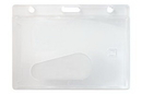 Custom Horizontal/Side Load Rigid Plastic Badge Holder - Access Card Dispenser, 3.65