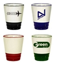 Custom 1.5 Oz. Two-Tone Ceramic Shot Glass