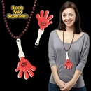 Custom Red & White Hand Clapper W/ Attached J Hook, 7