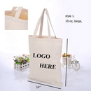 Custom 10oz Canvas Tote Bag, 14