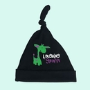 Custom The Laughing Giraffe Baby Knotted Beanie Hat - Black