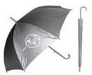 Custom Silver Sleek Stick Umbrella with Hook Handle (46