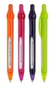 Custom Plastic Pen w/ Scroll Clip