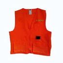 Custom Surveyor Safety Vests, Solid Twill Orange, Large by Radians, 24.5