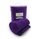 Custom Micro Plush Coral Fleece Blanket (Purple), 50