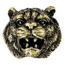 Blank Tiger Mascot Fully Modeled 3 Dimensional Pin
