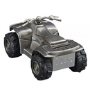 Custom Pewter Finish All Terraine Vehicle Bank, 5.25