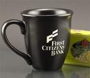 Custom 15 Oz. Carved Ceramic Black Sugo Mug, 4 1/2