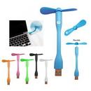 Custom Branded Flexible USB Fans, 3 1/2