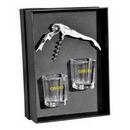 Custom The Lachlan Waiter's Corkscrew and Shot Glass Gift Set