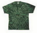 Custom Spider Green Tye Dye T-shirt