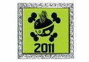 Custom Digistock Glitter Square Lapel Pins - 1 7/16