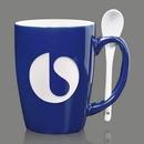 Custom Winfield Mug & Spoon - 15oz Cobalt