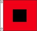 Custom Hurricane Warning Flag (36