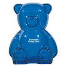 Custom Plastic Bear Shape Bank, 3 3/4