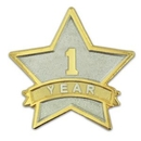 Custom Year Of Service Star Pin - 1 Year, 7/8