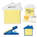 Custom House Clip With Sticky Notes, 3
