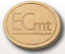 Custom Set of 2 Round Nubuck Coasters, 3 3/4
