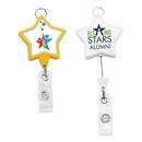 Custom Jumbo Star Badge Reel w/Lanyard Attachment (Chroma), 1.89