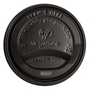 Blank Black Sip-Thru Compostable Lids (For 10 Oz., 12 Oz., 16 Oz., and 20 Oz. Cups)