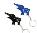 Custom Elephant Aluminum Bottle Opener With Keychain, 2 1/2