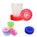 Custom Plastic Collapsible Pocket Travel Cup For Outdoor Camping, 1.18
