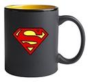 Custom 11 Oz. Hilo C-Handle Mug (Matte Black/Yellow)