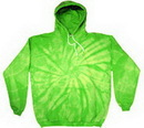 Custom Spider Lime Tye Dye Pullover Hoodie