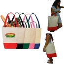 Custom Reusable - Eco Friendly Dual Handle Cotton Shopping Tote Bag, 16