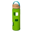 Custom The Astral Glass Bottle w/Teal Lid - 22oz Lime Green, 2.87