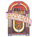Custom Juke Box Cutouts w/ Rock & Roll Banner, 3' L