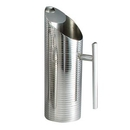 Custom 52 Oz. Lines Stainless Steel Water Pitcher
