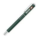 Custom Matte Green Brass Roller Ball Pen w/Chrome Trim