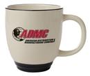 Custom 14 Oz., Bistro Heartland Colored Trim Mug (Almond Beige/Black Trim)