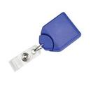 Custom Badge Reel W/ Swivel Belt - Purple