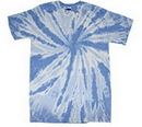 Blank Carolina Blue Twist Tye Dye T-Shirt