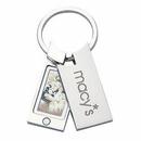 Custom Silver Plated Photo Key Holder