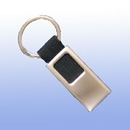 MDS Custom 2 Tone Metal Key Tag With Black Canvas Strap
