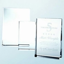 Custom Small Optical Crystal Vertical Rectangle Award, 3.5