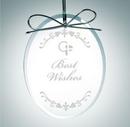 Custom Premium Oval Clear Glass Ornament Award, 4