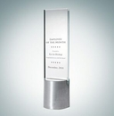 Custom Rectangular Vision Clear Glass Award, 10 1/2