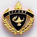 Blank Fully Modeled Epoxy Enameled Scholastic Award Pins (Effort), 7/8