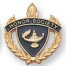 Blank Fully Modeled Epoxy Enameled Scholastic Award Pins (Honor Society), 7/8