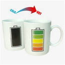 Custom 11oz Color Changing Ceramic Mug, 3 7/10
