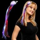 Blank Light Up Red, White & Blue Diva Hair Clip, 14