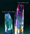 Custom Rainbow Hexagon optical crystal award trophy., 5