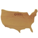Custom United States Shaped Wood Cutting Board