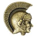 Blank Trojan/ Spartan Mascot Fully Modeled 3 Dimensional Pin